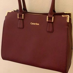 Maroon Calvin Klein Professional Tote